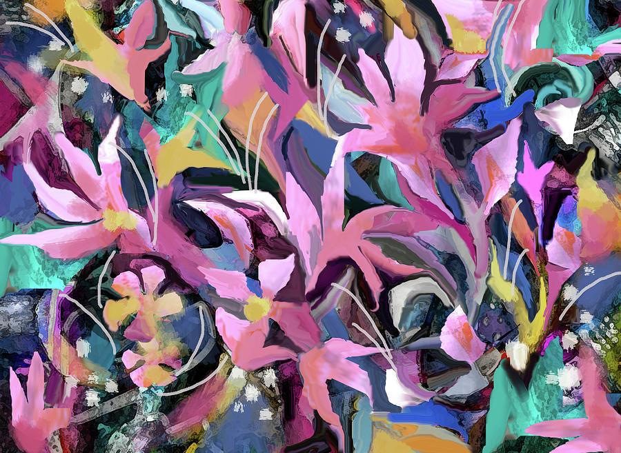 Pink Flowers by Jean Batzell Fitzgerald