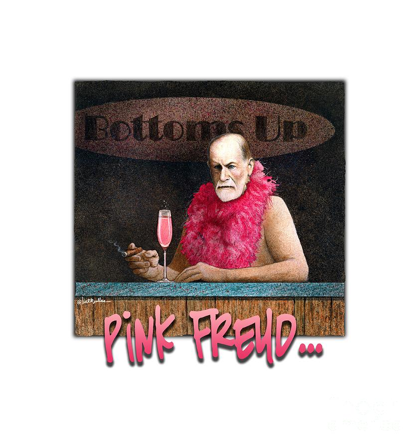 Humor Painting - Pink Freud... by Will Bullas