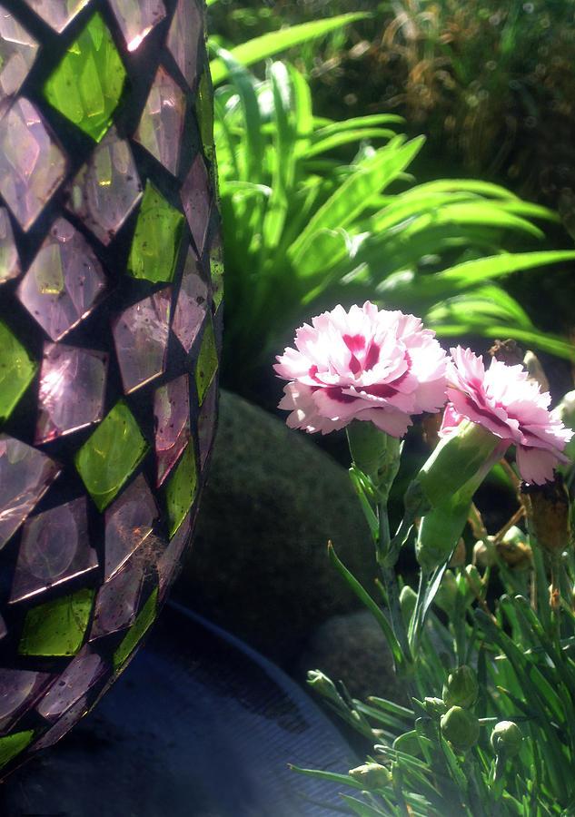 Pink garden flowers by Jaeda DeWalt
