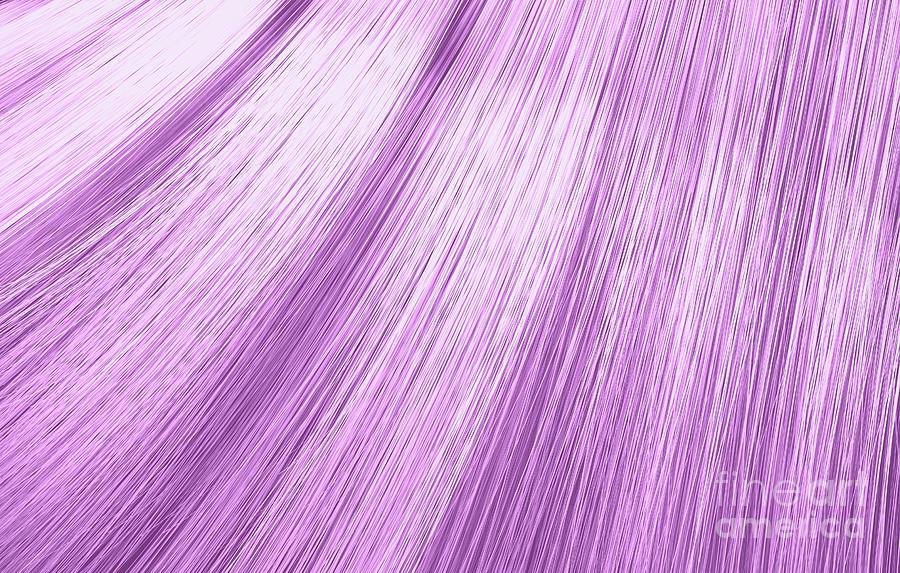 Pink Hair Blowing Closeup Digital Art