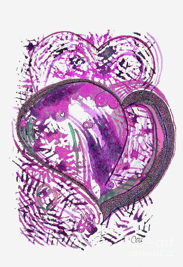 Pink Heart by Corinne Carroll