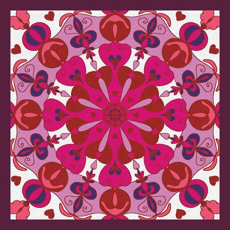 Pink Digital Art - Pink Hearts by Melissa Carter