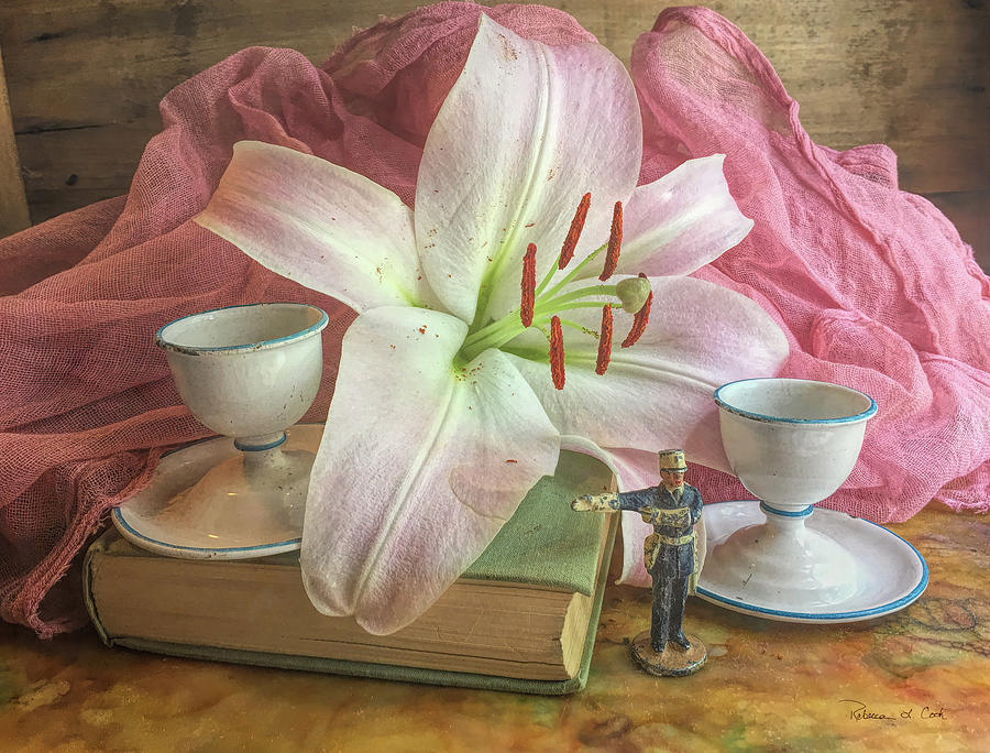 Pink Lily Still Life by Bellesouth Studio