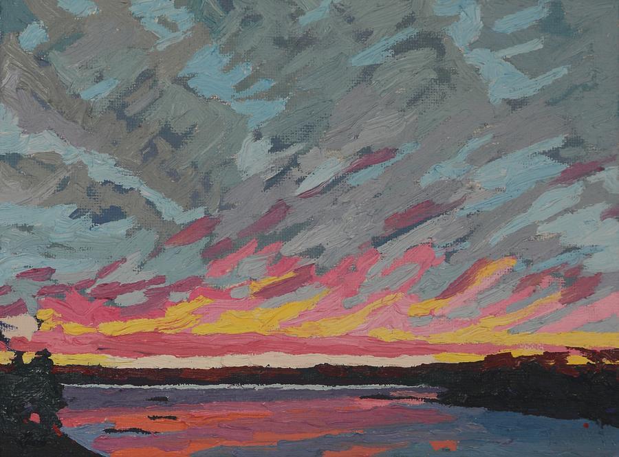 Pink Lines Sunset Singleton by Phil Chadwick