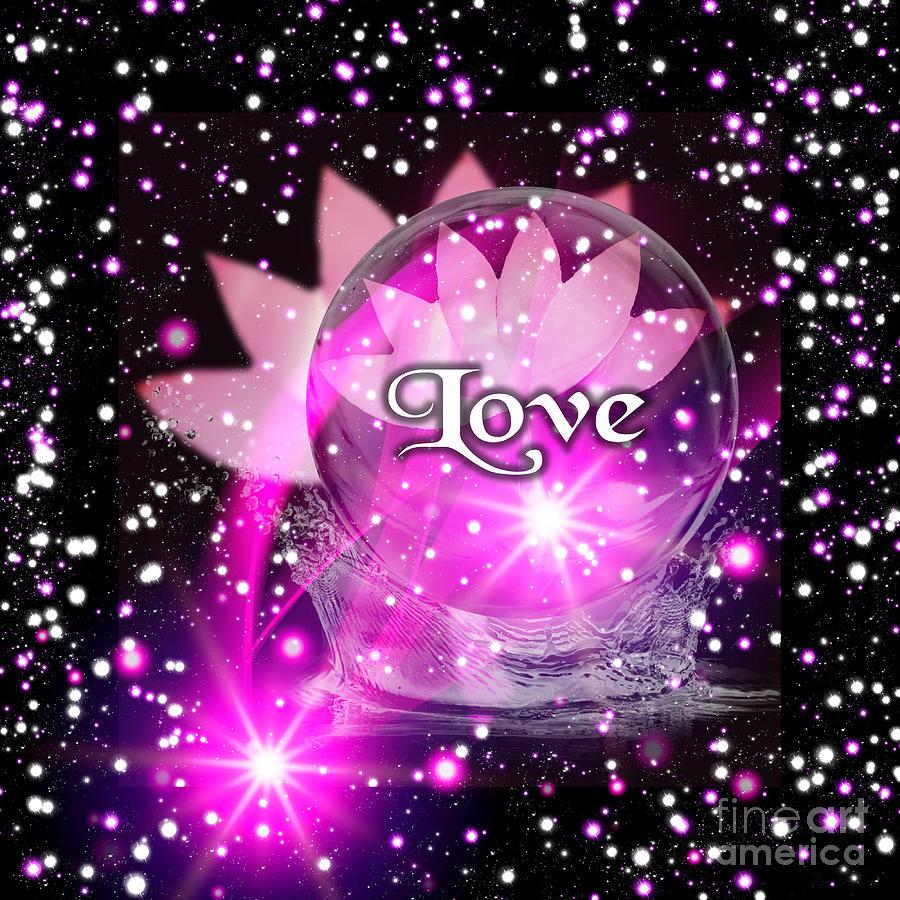Pink Lotus Love by Rachel Hannah