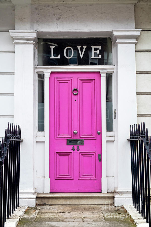 Pink Love Door by Tim Gainey