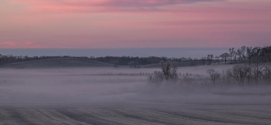Pink Misty Morning #2 - Rolling Hills by Patti Deters