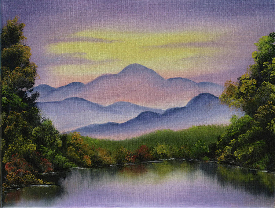 Landscape Painting - Pink Mountain by Forrest Girrard