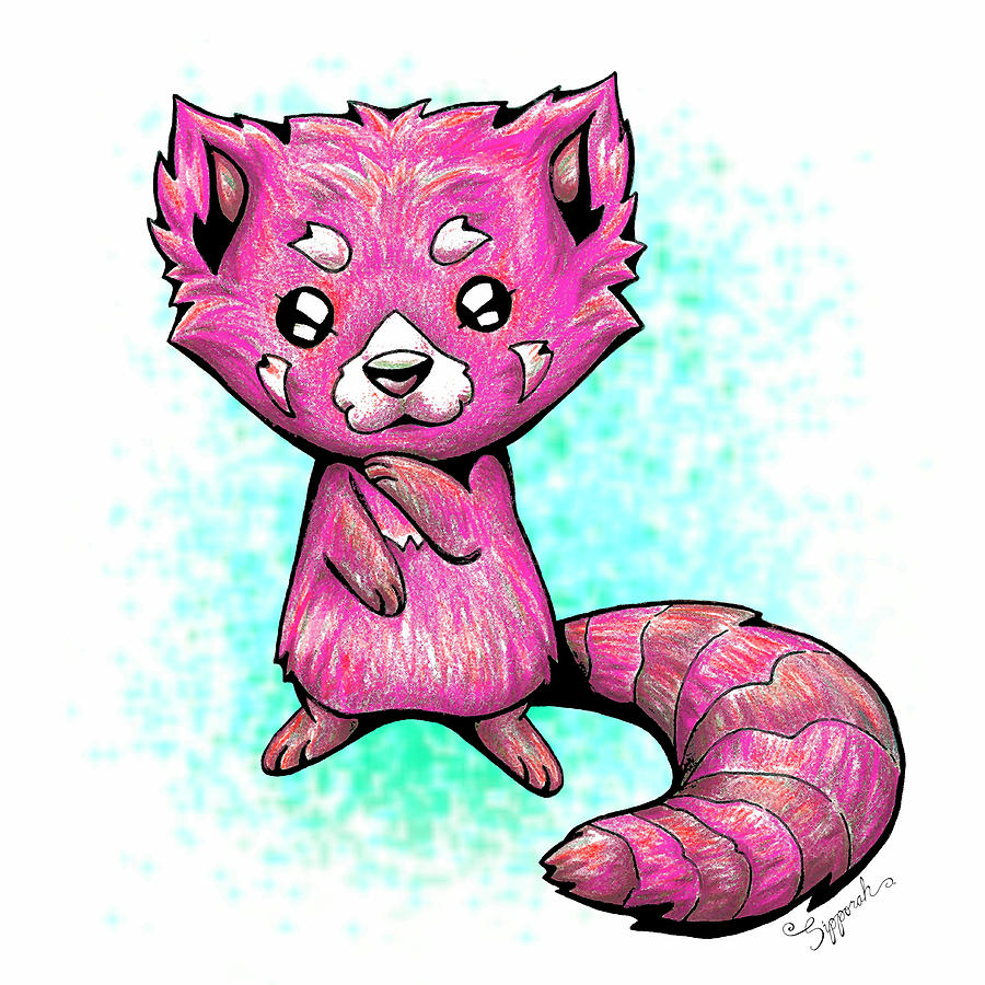 Pink Panda  by Sipporah Art and Illustration