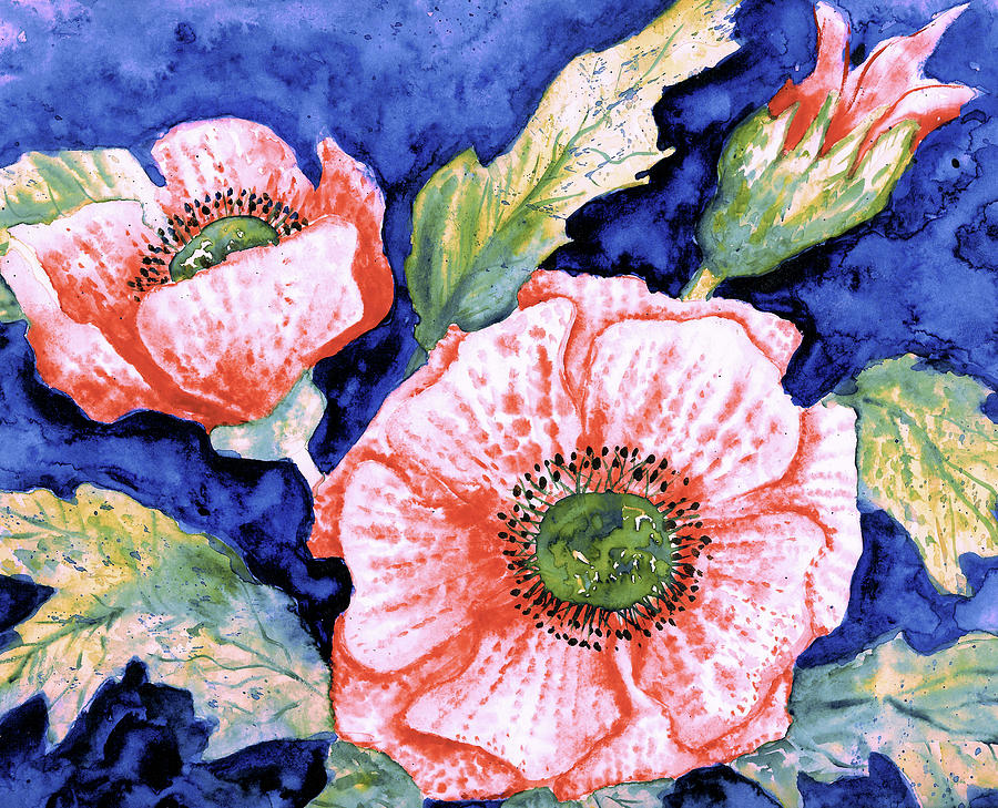 Pink Poppies by Natalie Holland