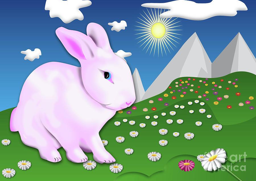 pink Rabbit by Fabian Roessler