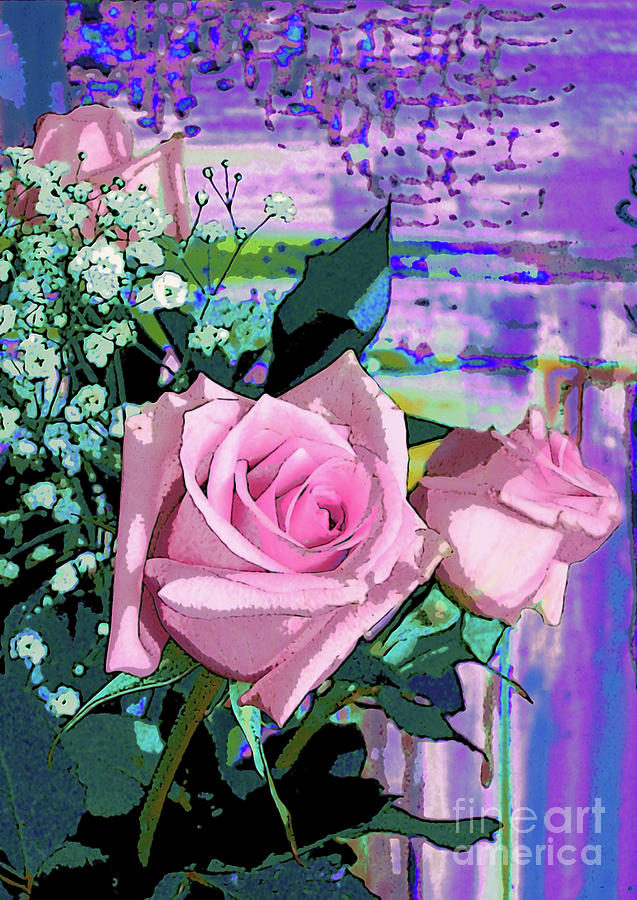 Pink Rose 1019 by Corinne Carroll