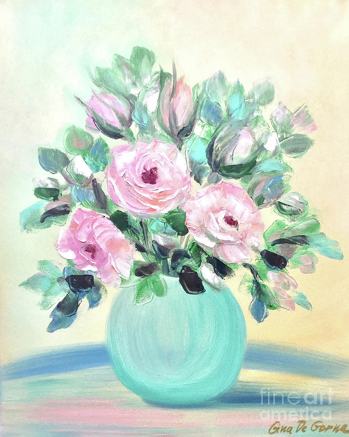 Pink Roses by Gina De Gorna