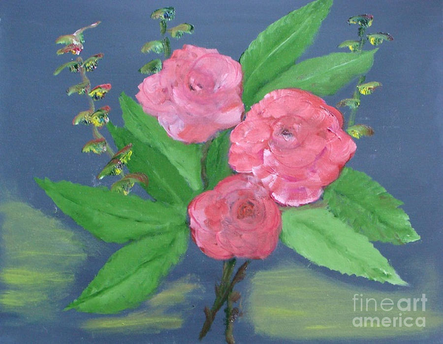 Pink Roses by Rod Jellison