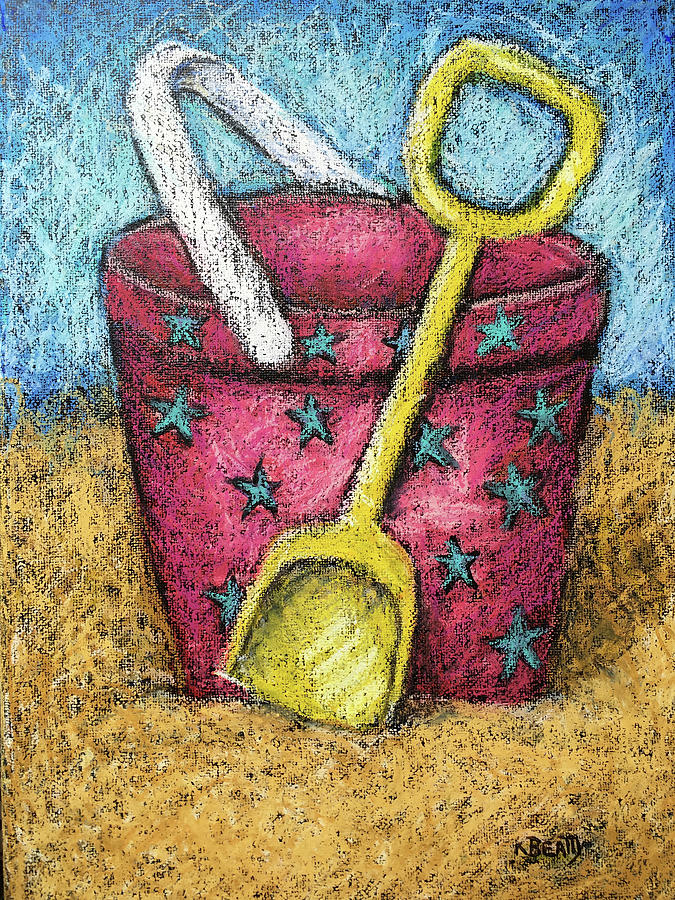 Pink Sand Pail by Karla Beatty