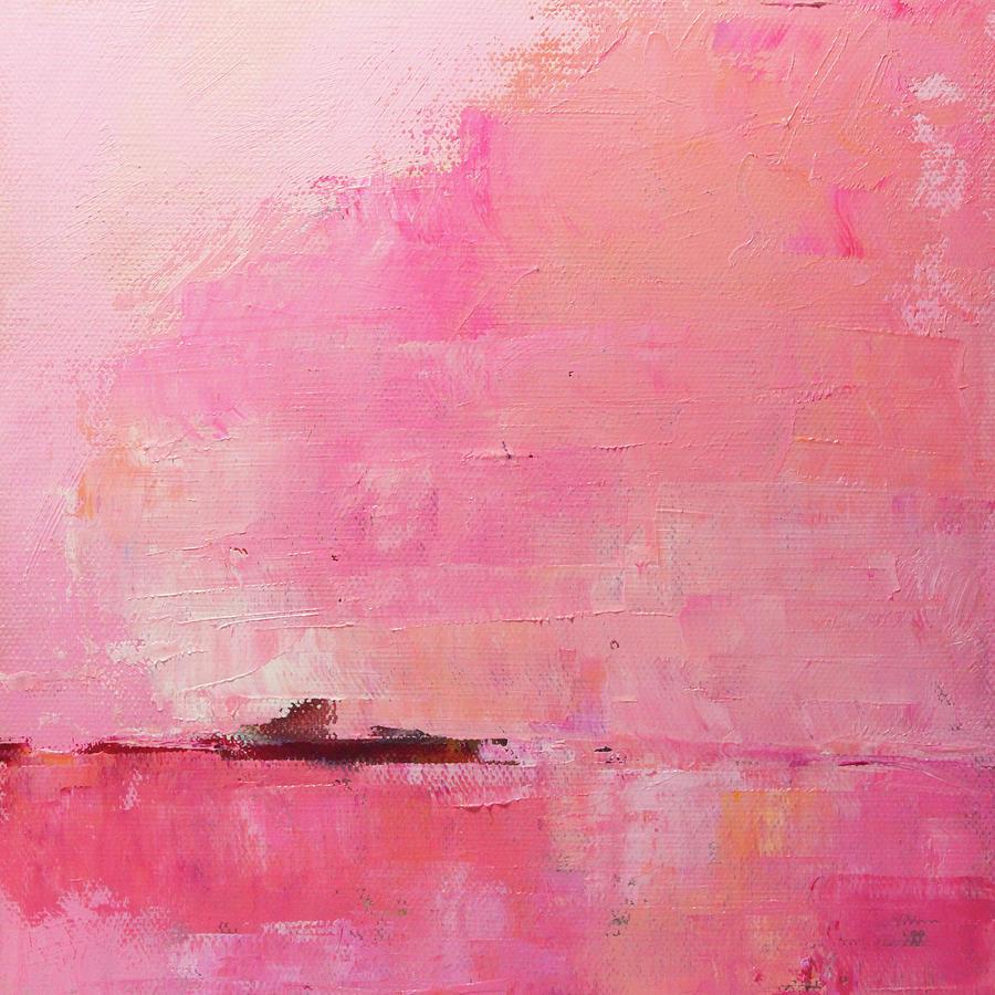 Zen Painting - Pink Sky Abstract by Nancy Merkle