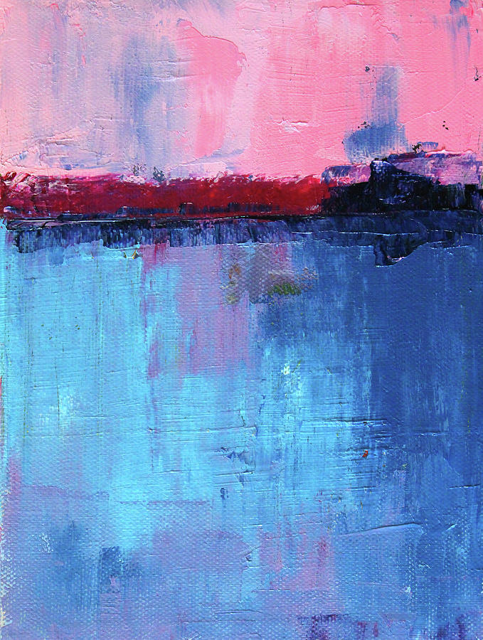 Pink Sunrise Abstract by Nancy Merkle