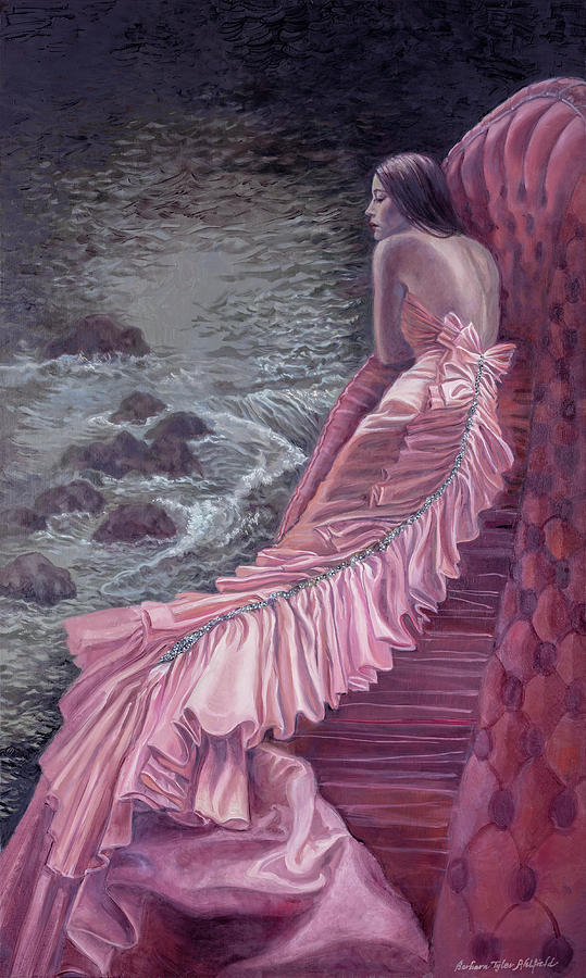 Fashion Painting - Pink Taffeta by Barbara Tyler Ahlfield