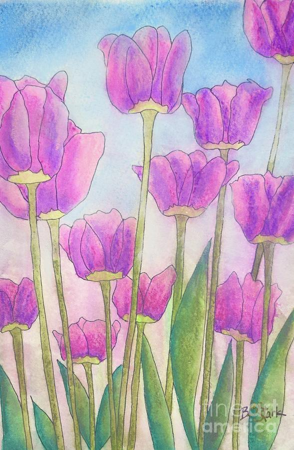 Pinkie Tulips by Barrie Stark