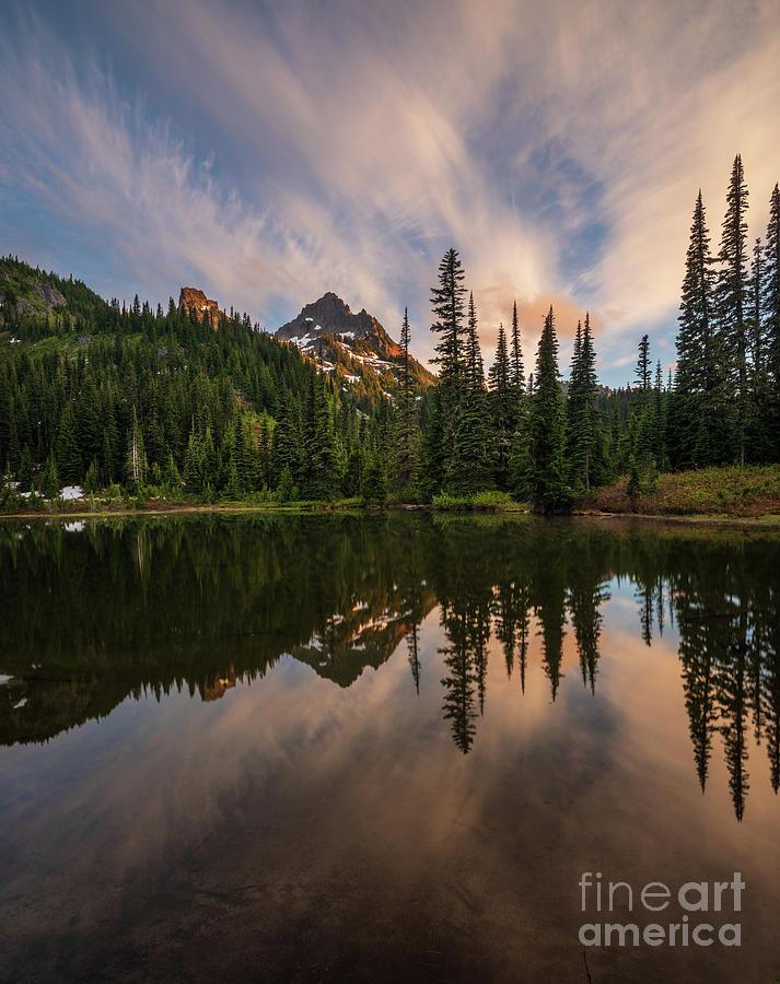 Pinnacle Peak Sunset Reflection Angles Photograph