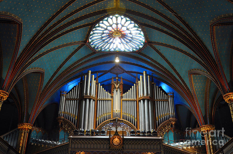 Notre Photograph - Pipe Organ Of Montreal Notre-dame by Wangkun Jia