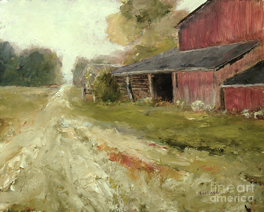 Pipersville Painting - Pipersville Farm by Cindy Roesinger