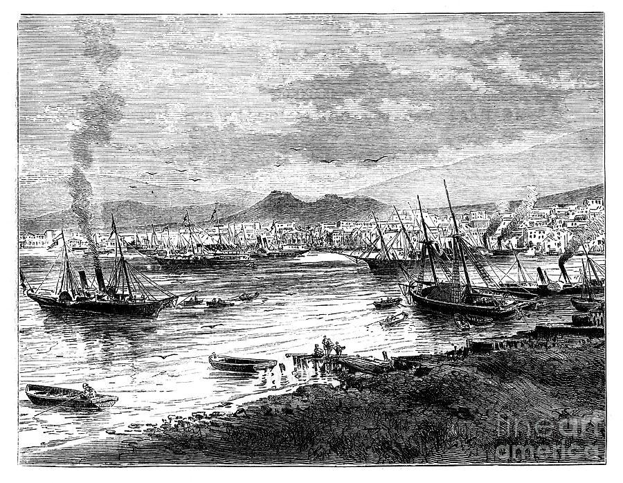 Piraeus, Athens, Greece, C1888 Drawing by Print Collector