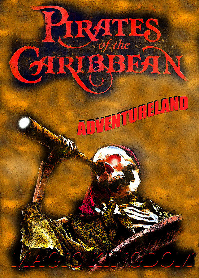 Pirates Of The Caribbean Digital Art - Pirates Skeleton Poster B by David Lee Thompson