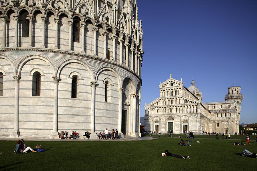 Pisa Baptistry With Cathedral And Photograph by Bruce Yuanyue Bi