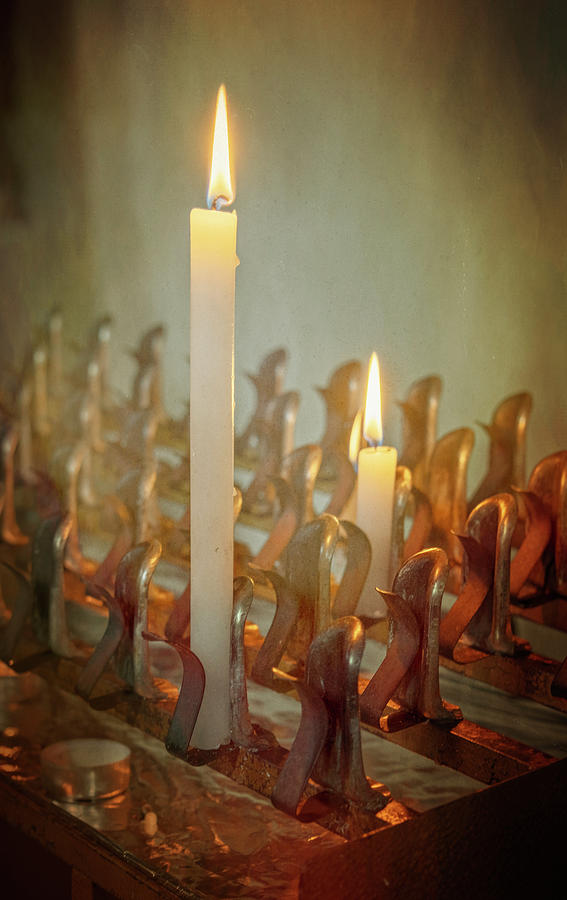 Pisa Italy Church Candles Photograph