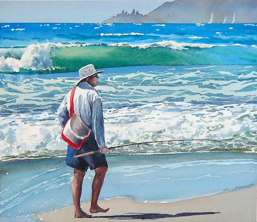 Fishing Painting - Pismo Fisherman by Philip Fleischer