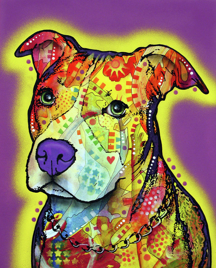 Pitbull 2 by Dean Russo Art
