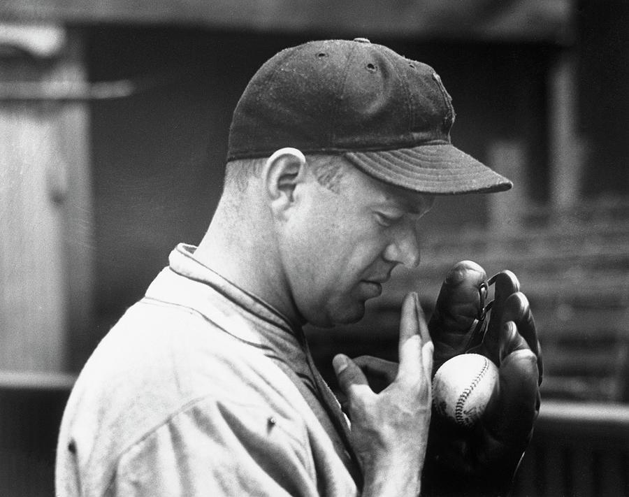 Pitcher Burleigh Grimes Demonstrating Photograph by Bettmann