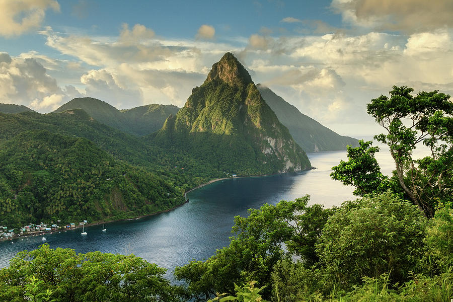 Piton View - Saint Lucia Photograph by Paul Baggaley