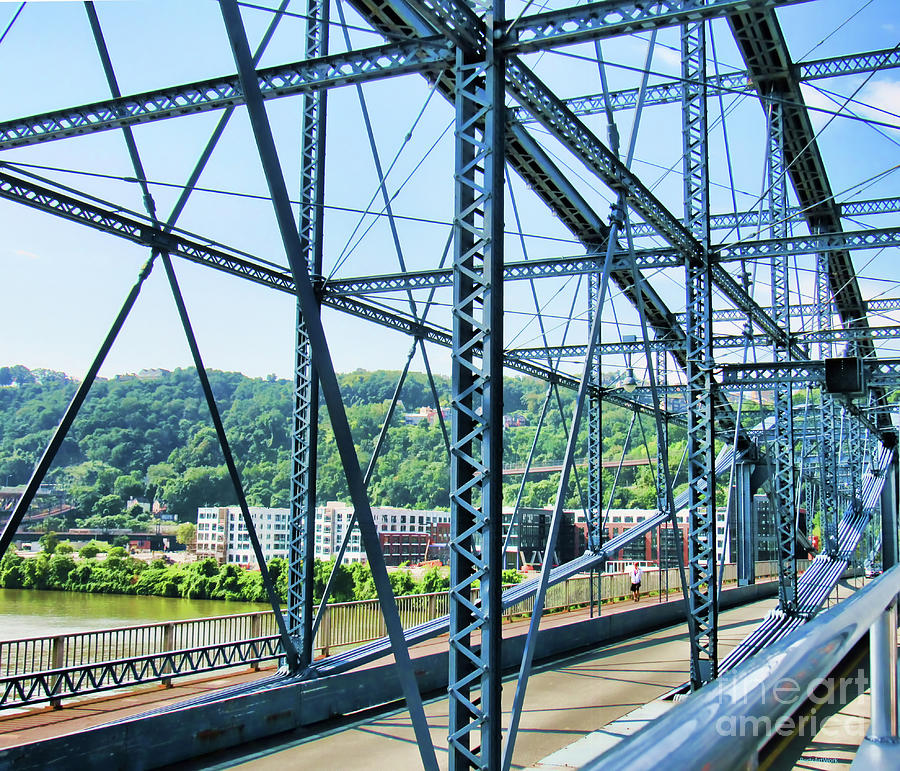 Pittsburgh and One of Its 445 Bridges by Roberta Byram