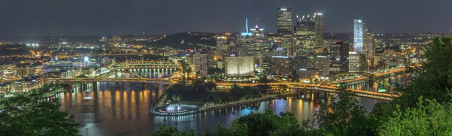 2018 Photograph - Pittsburgh Lights by David R Robinson