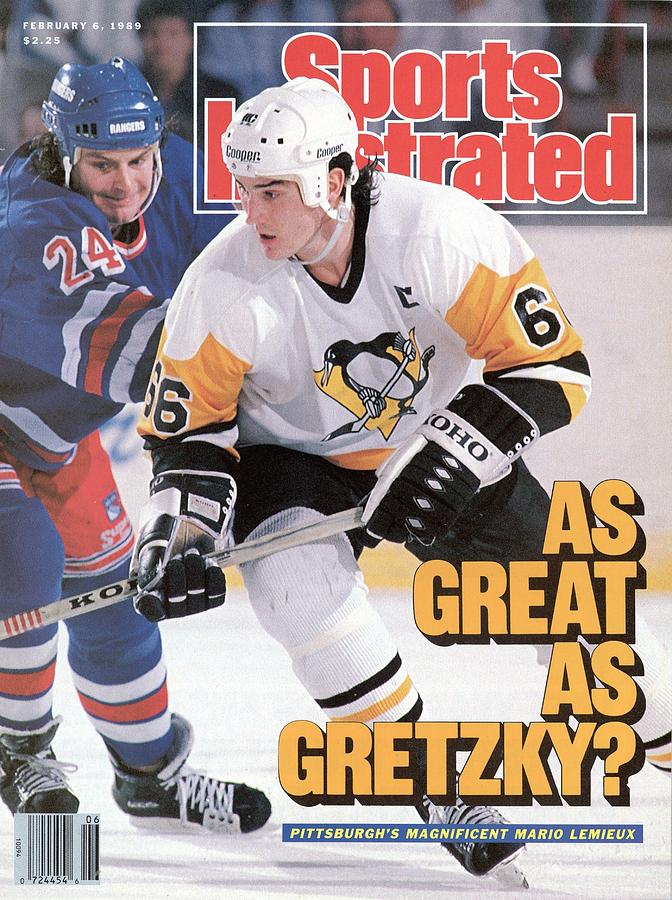 Pittsburgh Penguins Mario Lemeiux... Sports Illustrated Cover Photograph by Sports Illustrated