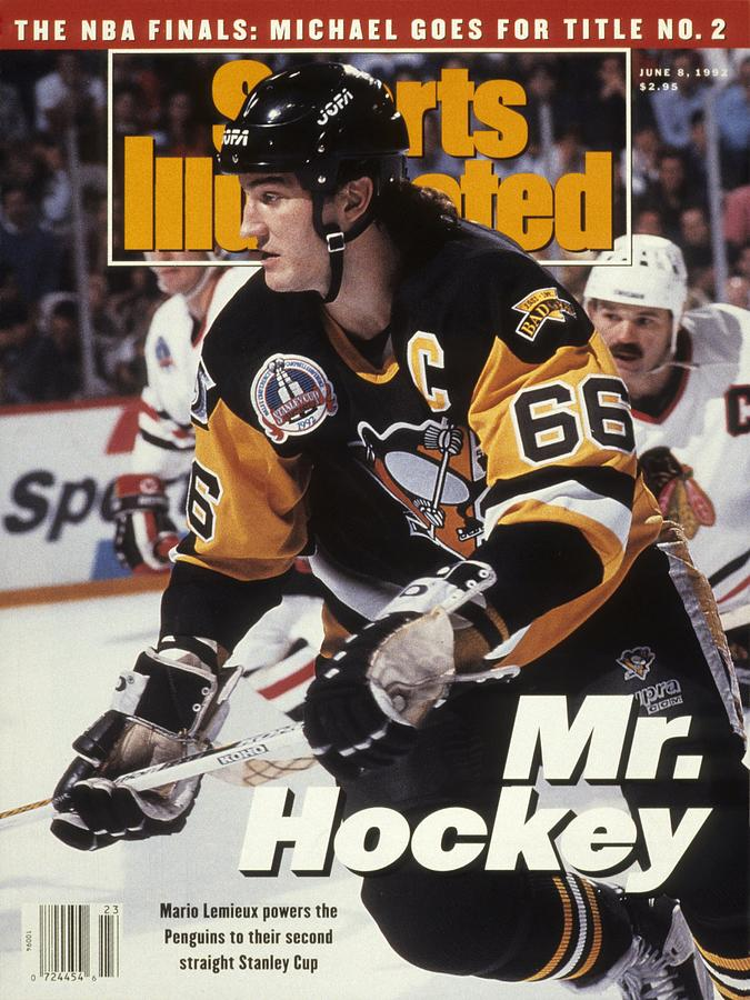 Pittsburgh Penguins Mario Lemieux, 1992 Nhl Stanley Cup Sports Illustrated Cover Photograph by Sports Illustrated