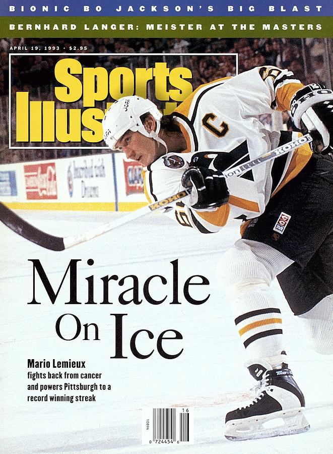 Pittsburgh Penguins Mario Lemieux... Sports Illustrated Cover Photograph by Sports Illustrated