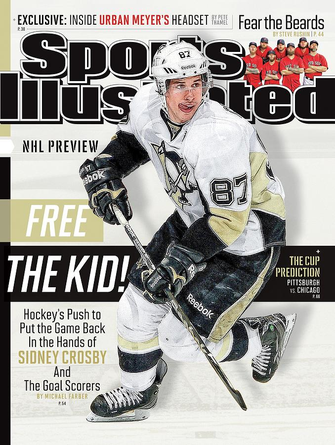 Pittsburgh Penguins Sidney Crosby, 2013-14 Nhl Hockey Sports Illustrated Cover Photograph by Sports Illustrated
