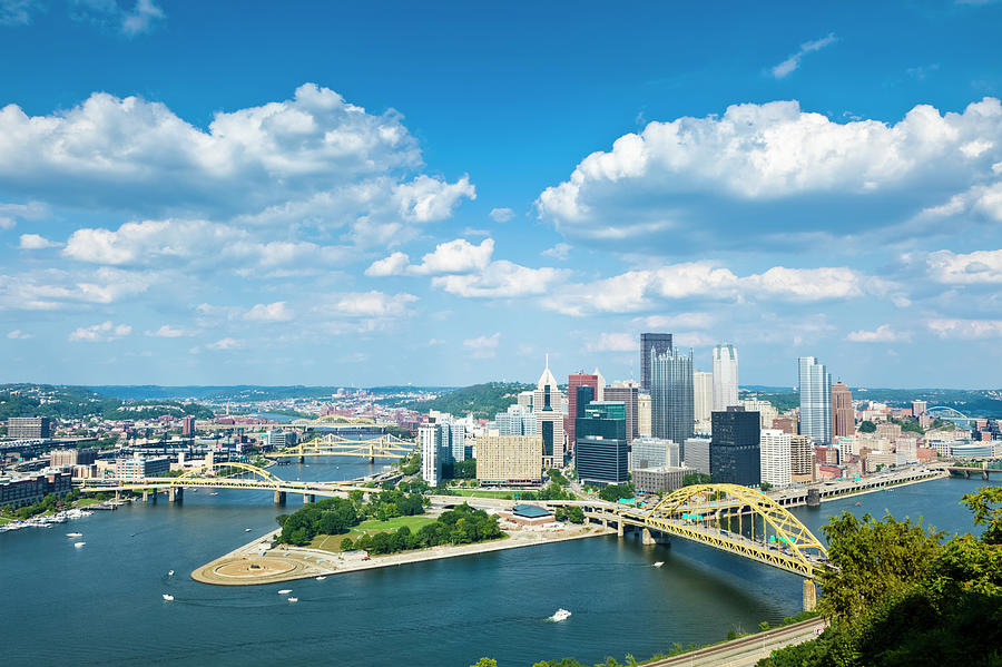 Pittsburgh, Pennsylvania Skyline With Photograph by Drnadig