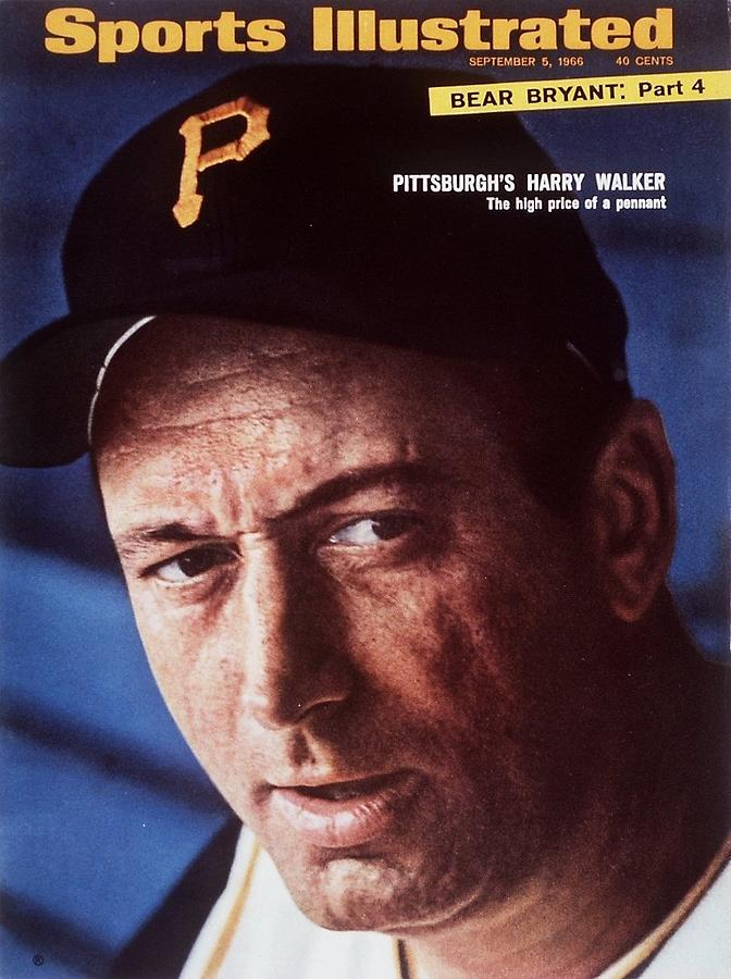 Pittsburgh Pirates Manager Harry Walker Sports Illustrated Cover Photograph by Sports Illustrated