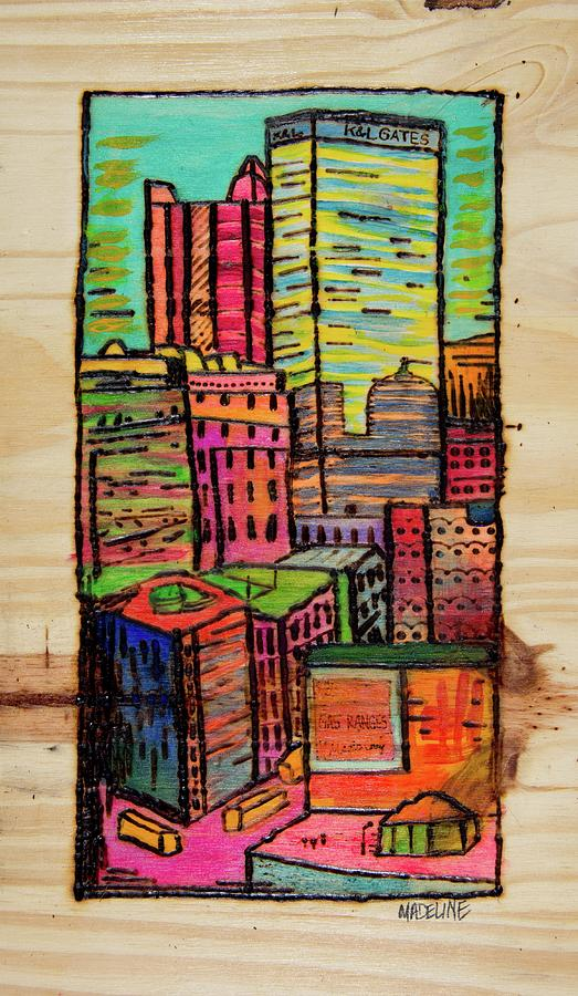 Pittsburgh Painting - Pittsburgh Stack by Madeline Dillner