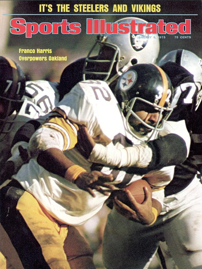 Pittsburgh Steelers Franco Harris, 1974 Afc Championship Sports Illustrated Cover Photograph by Sports Illustrated