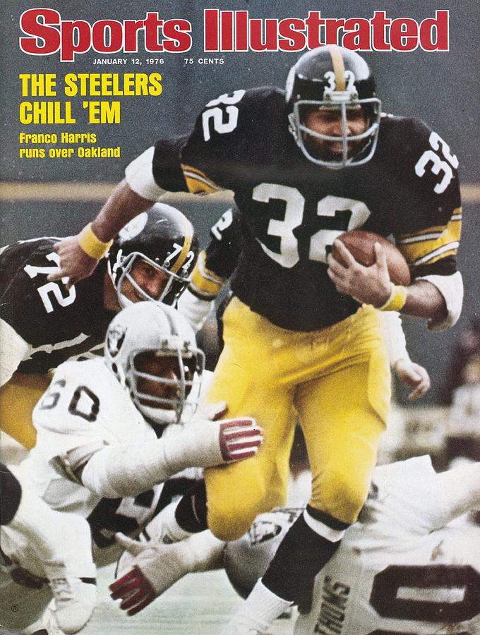 Pittsburgh Steelers Franco Harris, 1976 Afc Championship Sports Illustrated Cover Photograph by Sports Illustrated
