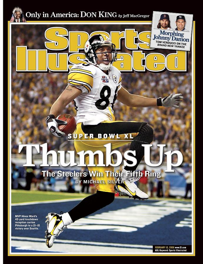 Pittsburgh Steelers Hines Ward, Super Bowl Xl Sports Illustrated Cover Photograph by Sports Illustrated