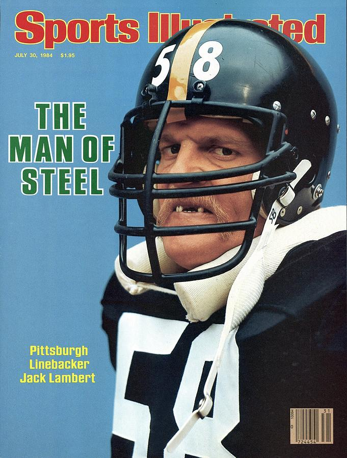 Magazine Cover Photograph - Pittsburgh Steelers Jack Lambert. Sports Illustrated Cover by Sports Illustrated