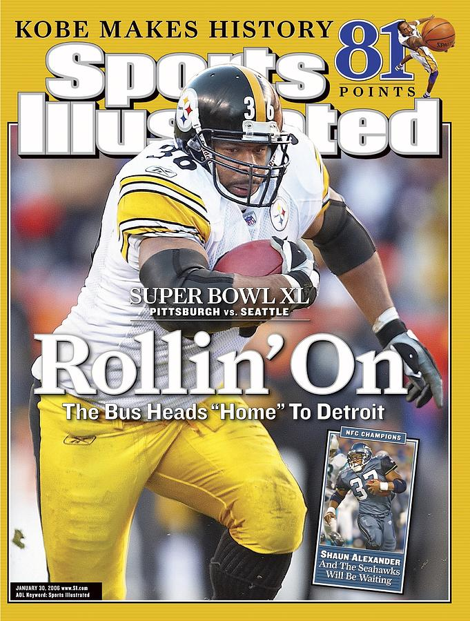 Pittsburgh Steelers Jerome Bettis, 2006 Afc Championship Sports Illustrated Cover Photograph by Sports Illustrated