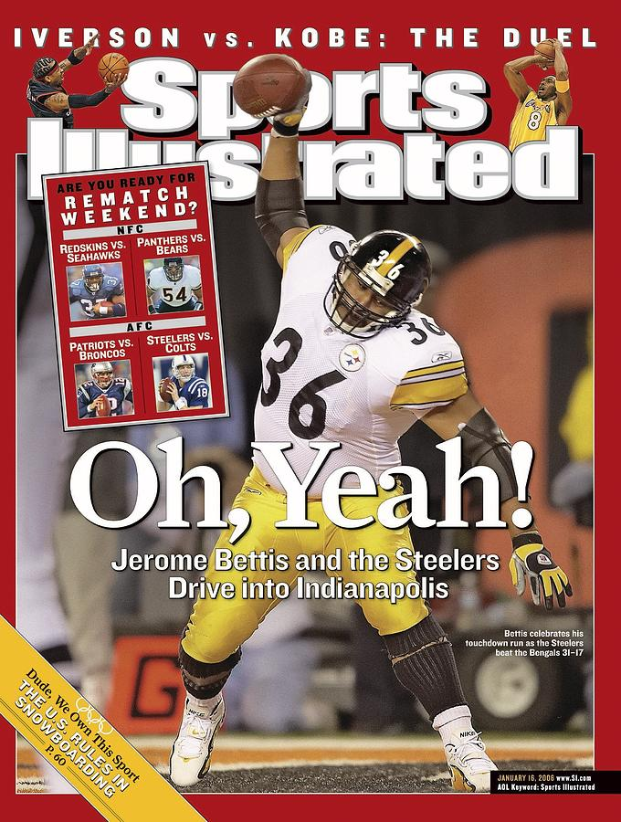 Pittsburgh Steelers Jerome Bettis, 2006 Afc Wild Card Sports Illustrated Cover Photograph by Sports Illustrated