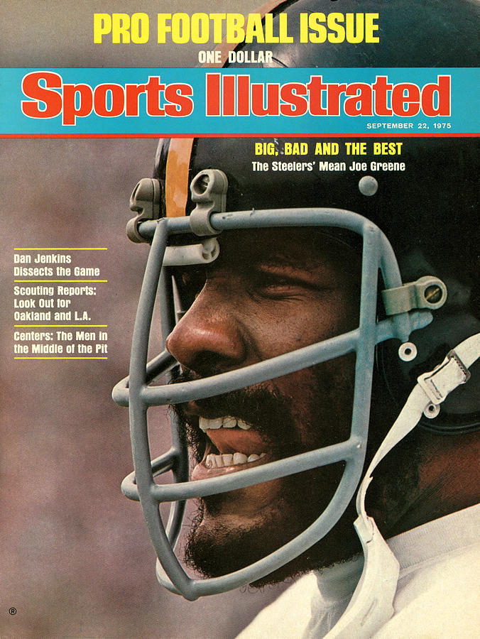 Pittsburgh Steelers Joe Greene Sports Illustrated Cover Photograph by Sports Illustrated